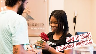 How To Photograph a Surprise Proposal - Engagement - Professional Wedding Photography Tips