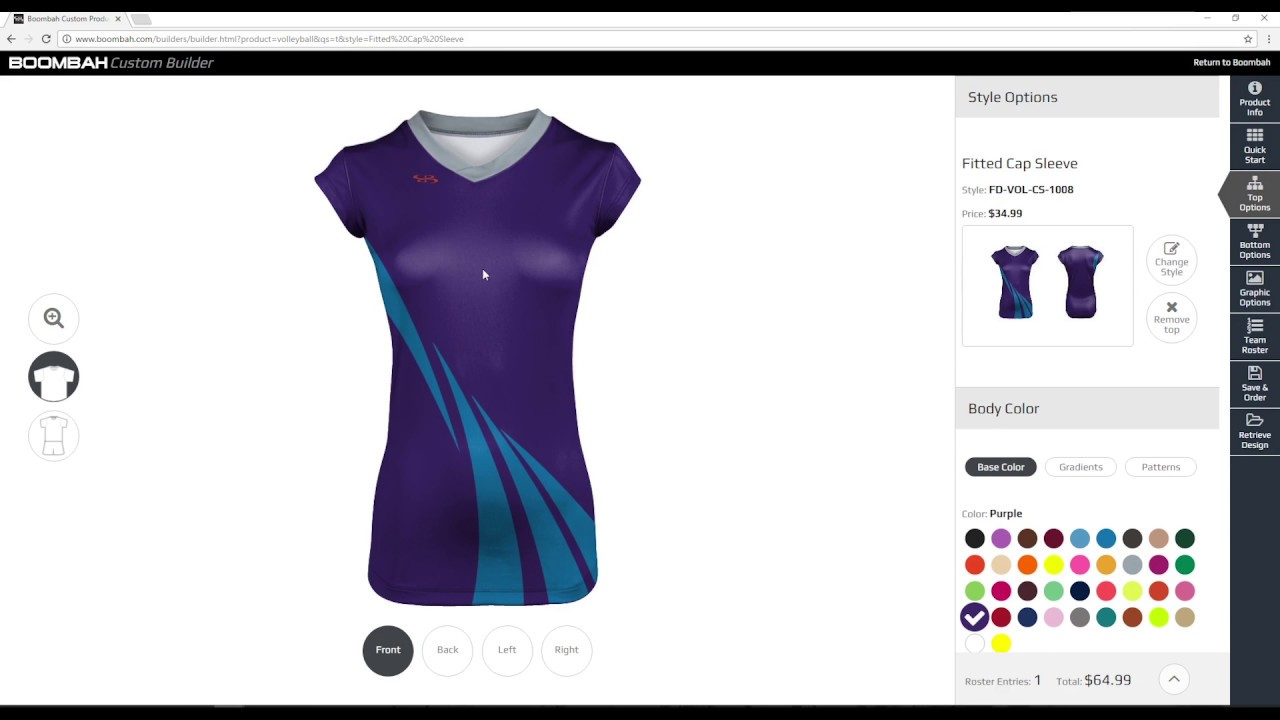 10b31b755f08 Women s Custom Volleyball Uniform Builder - Boombah INK - YouTube
