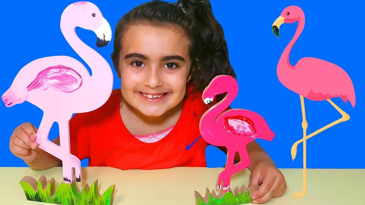 Flamingo Ahşap Boyama Boyama Oyunları Oyna Umikids Youtube