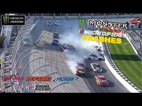 2017 NASCAR Cup Crashes (Dover- Sonoma)