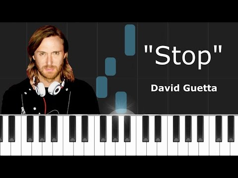 """David Guetta - """"Stop"""" ft Ryan Tedder Piano Tutorial - Chords - How To Play - Cover"""