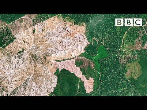 Satellite shows extent of terrible destruction to the planet - BBC