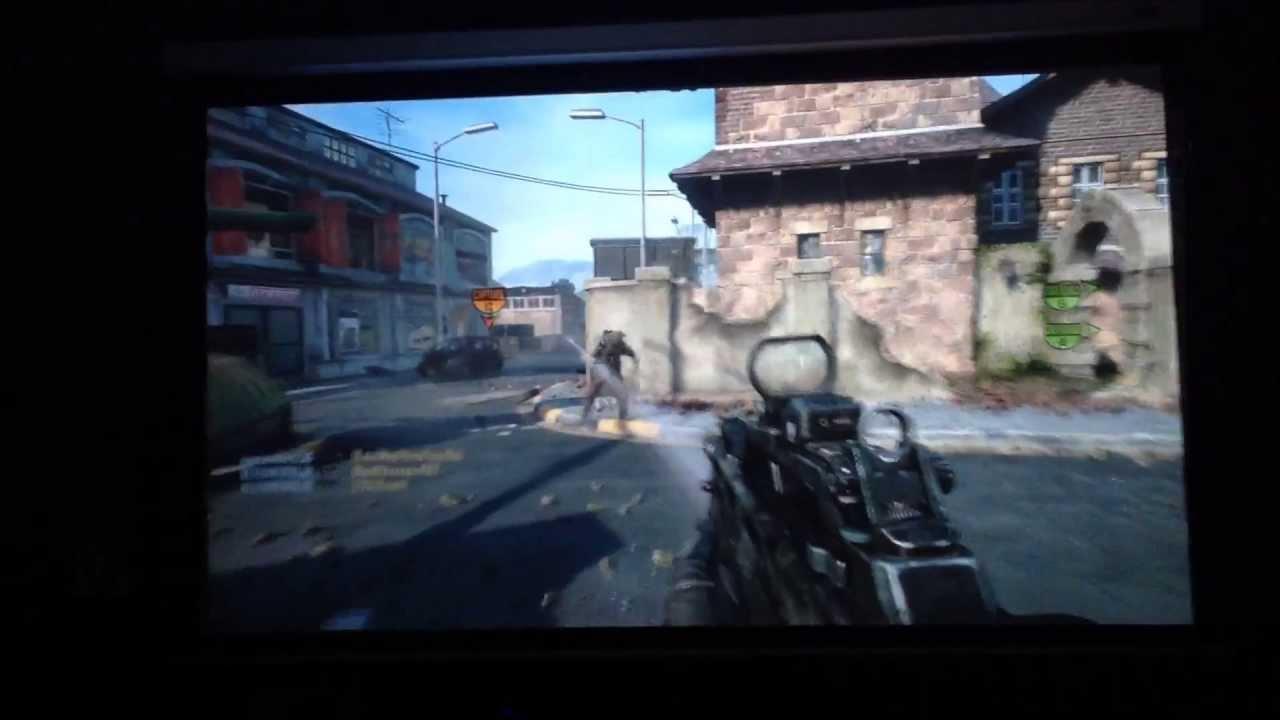 Xbox 360 Gaming On 100 Inch Screen Optoma Hd 3300 1080p