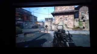XBOX 360 GAMING ON 100 INCH SCREEN OPTOMA HD 3300 1080P Projector