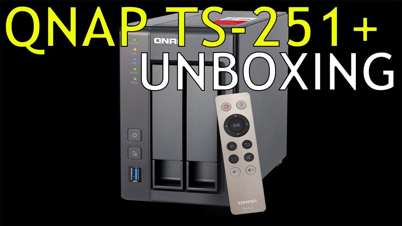QNAP TS-251+ NAS Drive Unboxing