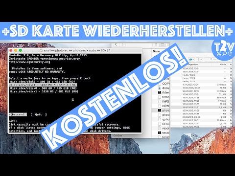 SD Karte Wiederherstellen // Bilder, Videos & Daten Retten // Testdisk & Photorec / MAC OS DEUTSCH