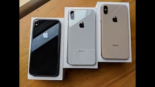 unboxing all THREE iPhone XS Max colors
