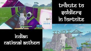 Tribute to Indian soldiers in FORTNITE | Indian National Anthem | Marshmello Skin