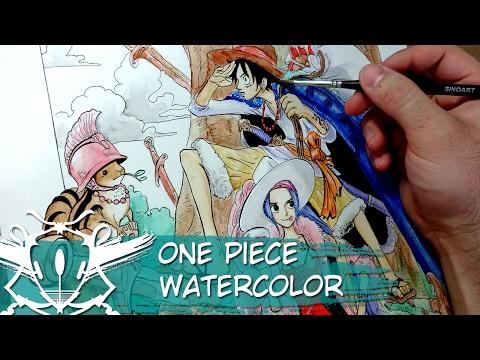 One Piece Watercolor Eiichiro Oda Timelapse