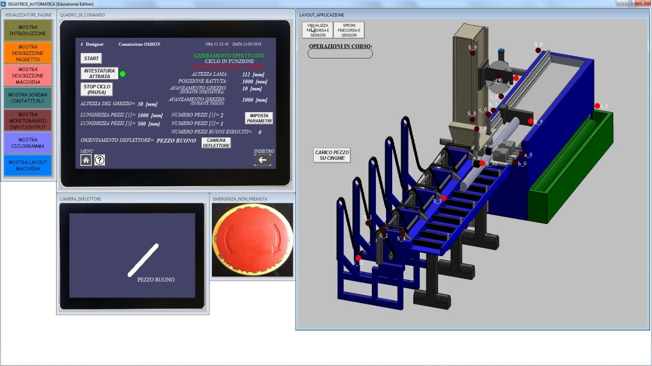 Smart Project Omron 2018, Impianto automatico taglio e intestatura tubi o profilati