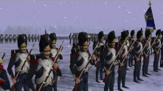 NAPOLEONIC 3D ANIM BATTLE SCENES:RUSSIA 1812 WINTER,THE OLD IMPERIAL GUARD ADVANCING