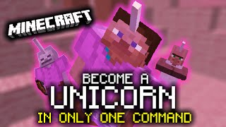 Minecraft: Become a UNICORN (Minecraft 1.9 Only One Command)