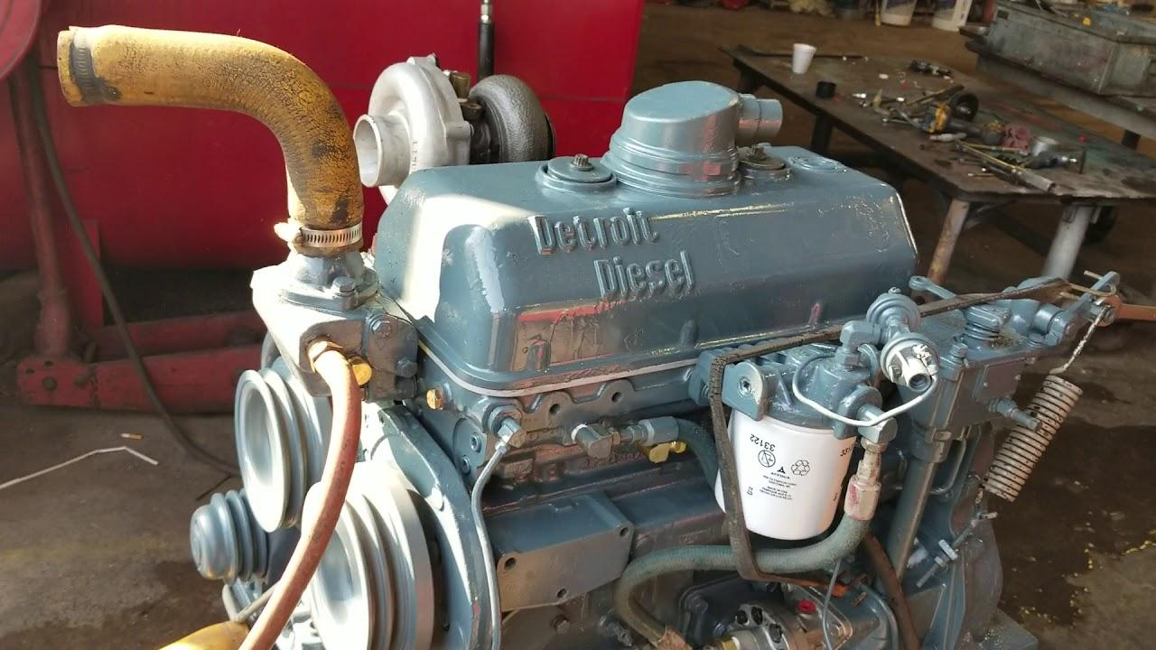 DETROIT DIESEL 3-53T ENGINE RUN