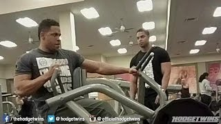 Back Chest & Shoulders Workout  @hodgetwins
