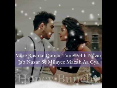 Mere Rashke Qamar Tune Pehli Nazar (Lyrical Video) - YouTube