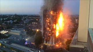 Hochhausbrand in London: Anwohnerin filmte Inferno aus Nachbarhochhaus