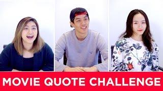 Chinese Students Take On a MOVIE QUOTE CHALLENGE | 留學生經典電影台詞挑戰