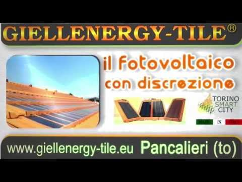 SOLAR ROOF GIELLENERGY-TILE PV discreetly