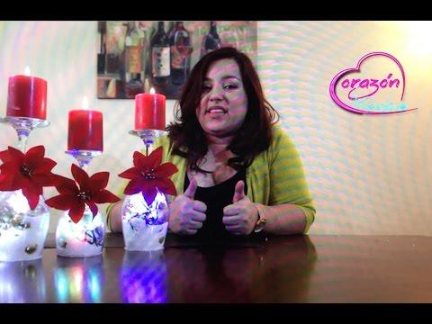 Como hacer centros de Mesa para navidad con copas