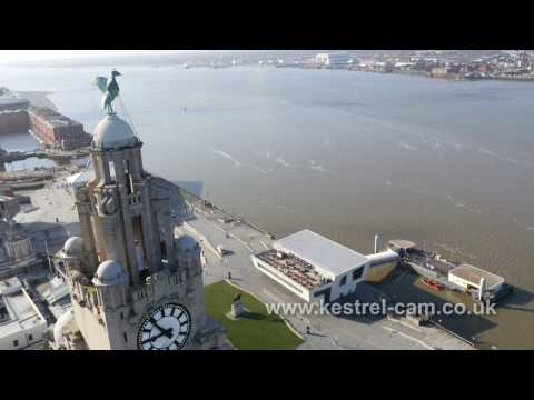 Liverpool Waterfront Drone Video Footage