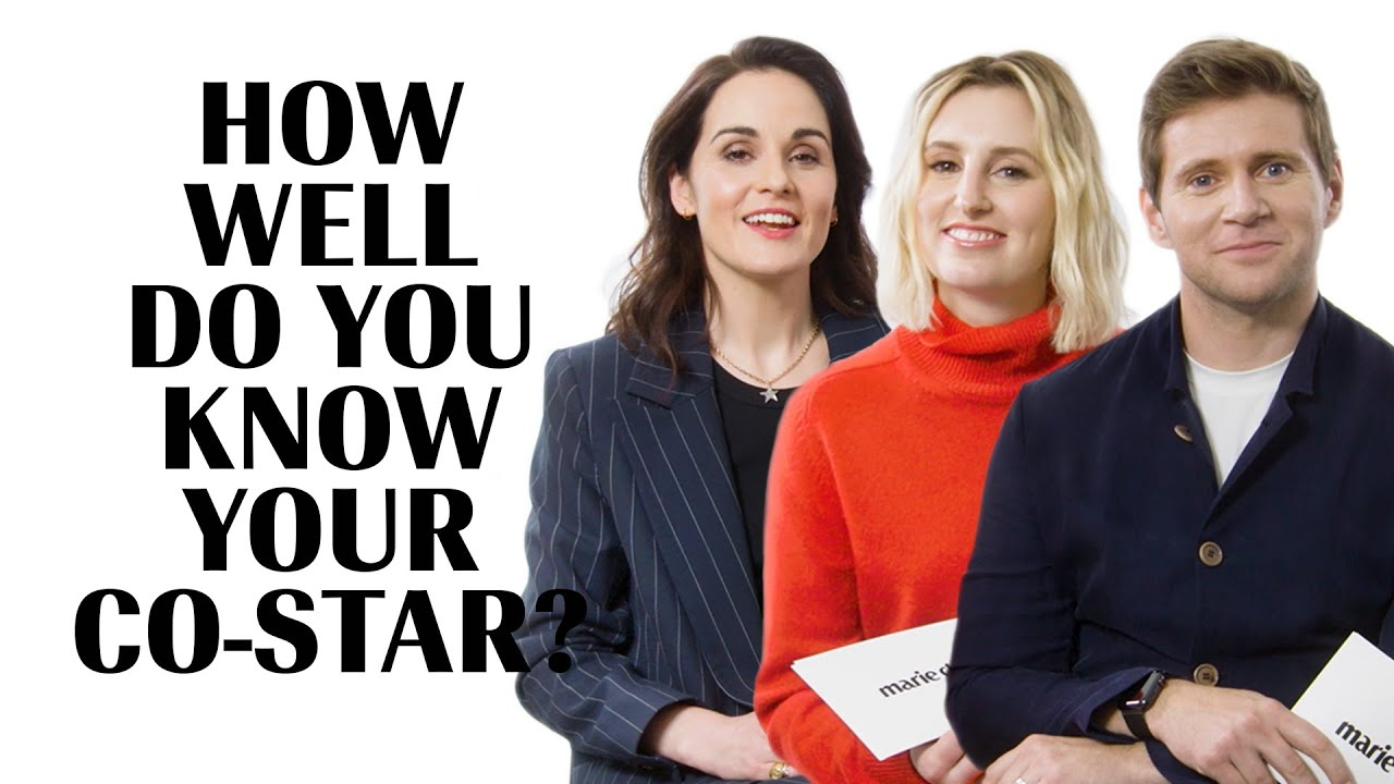 Downton Abbey Part 1 | How Well Do You Know Your Co-Star | Marie Claire