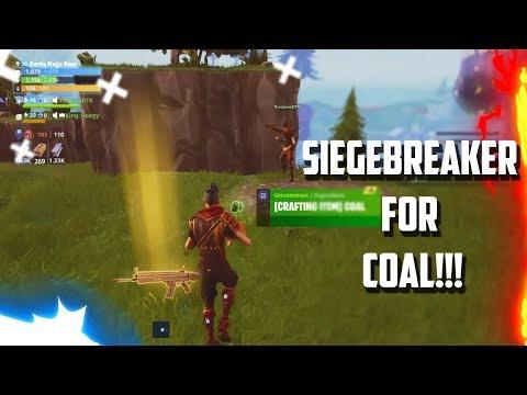 Trading COAL FOR A SIEGEBREAKER! - Fortnite Save The World.