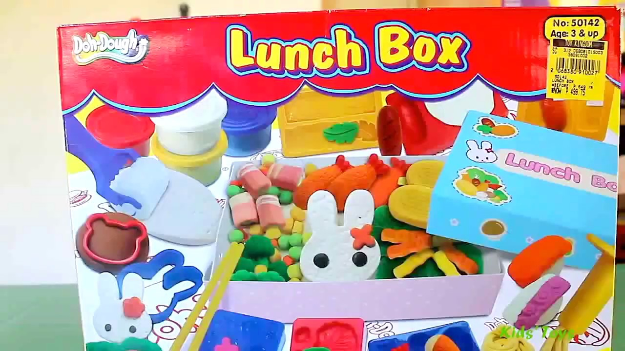 Doh-Dough - Burger Set Chicken Nuggets French Fries Magic Car Extruder DIY Lunch Box Playset