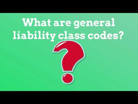 What are general liability class codes? | Class Codes