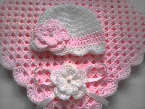 Youtube Crocheting A Blanket : Baby Girl Crochet Blanket - YouTube
