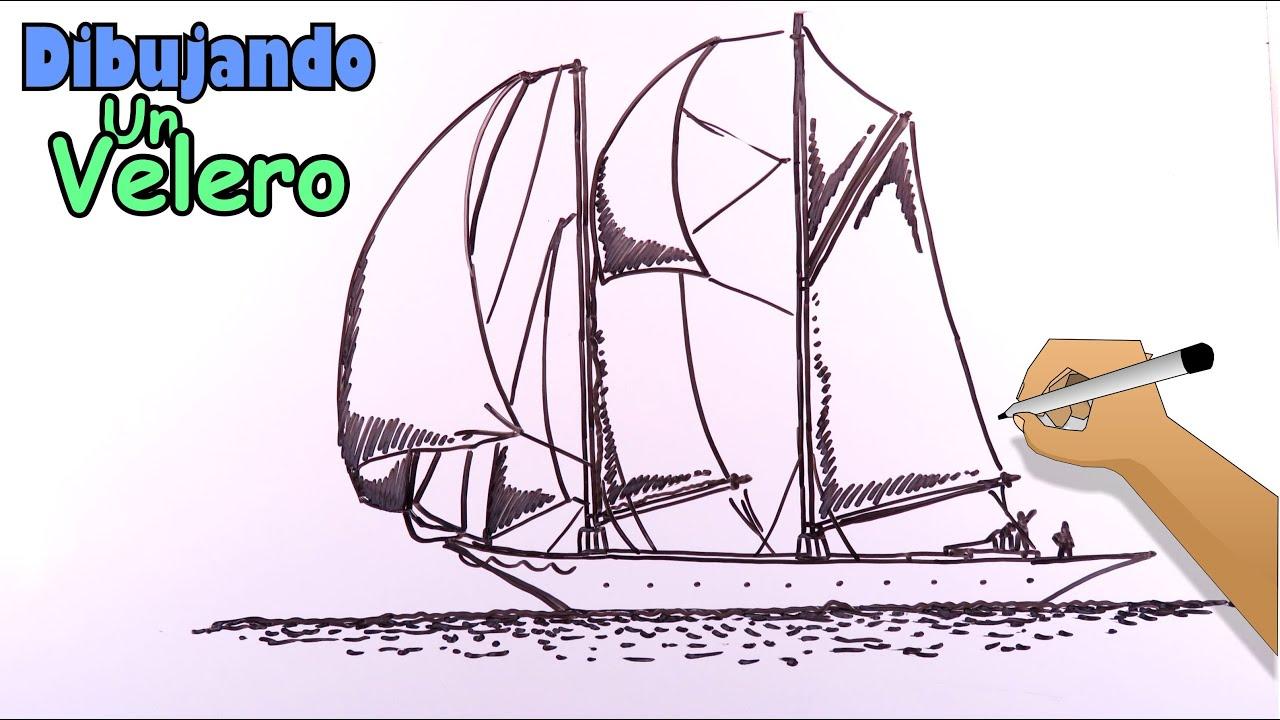 Cómo dibujar barcos 1/8 - Un barco velero