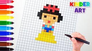 Белоснежка - Принцессы Диснея - Рисунки по клеточкам   Snow White - Pixel art