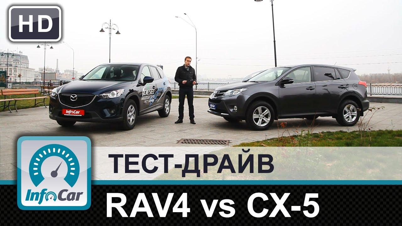 сравнение toyota rav4 и mazda cx-5