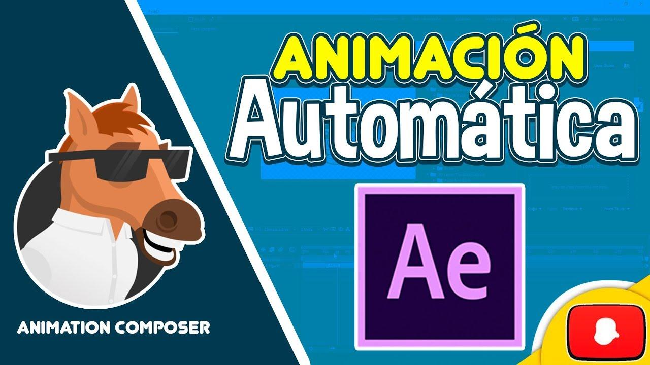 Como Animar Textos E Imagenes Automáticamente En After Effects Youtube