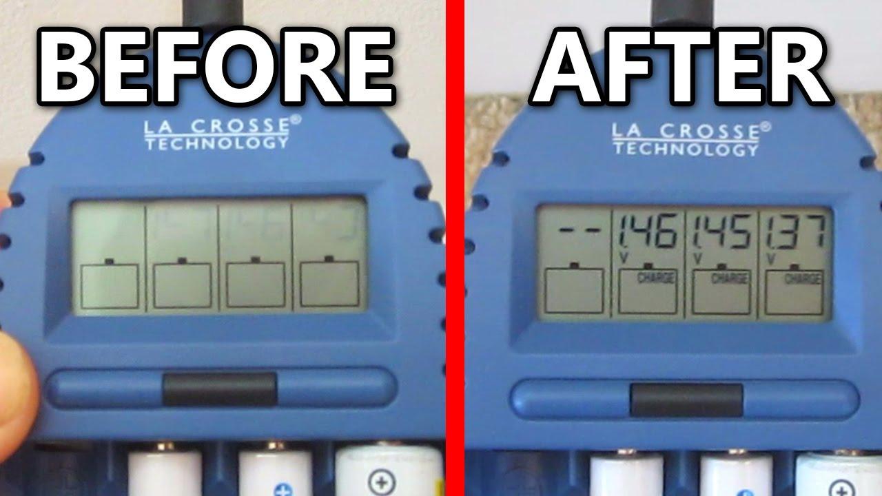 Dim LCD Display Repair - Electronics Fix La Crosse Battery Charger BC500  BC700 BC1000 ESR Meter