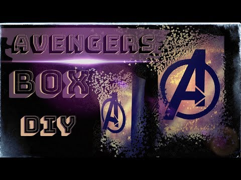 DIY- AVENGERS GIFT BOX * MARVEL / Подарочный БОКС