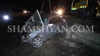 Ավտովթար Երևանում  վարորդը Mercedes ով դուրս է եկել ճանապարհի երթևեկելի հատվածից և գլխիվայր շրջվել