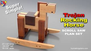 Wood Toy Plans - Trojan Rocking Horse
