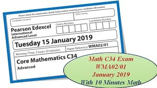 Edexcel IAL C12 January 2019/1 - 10 Minutes Math