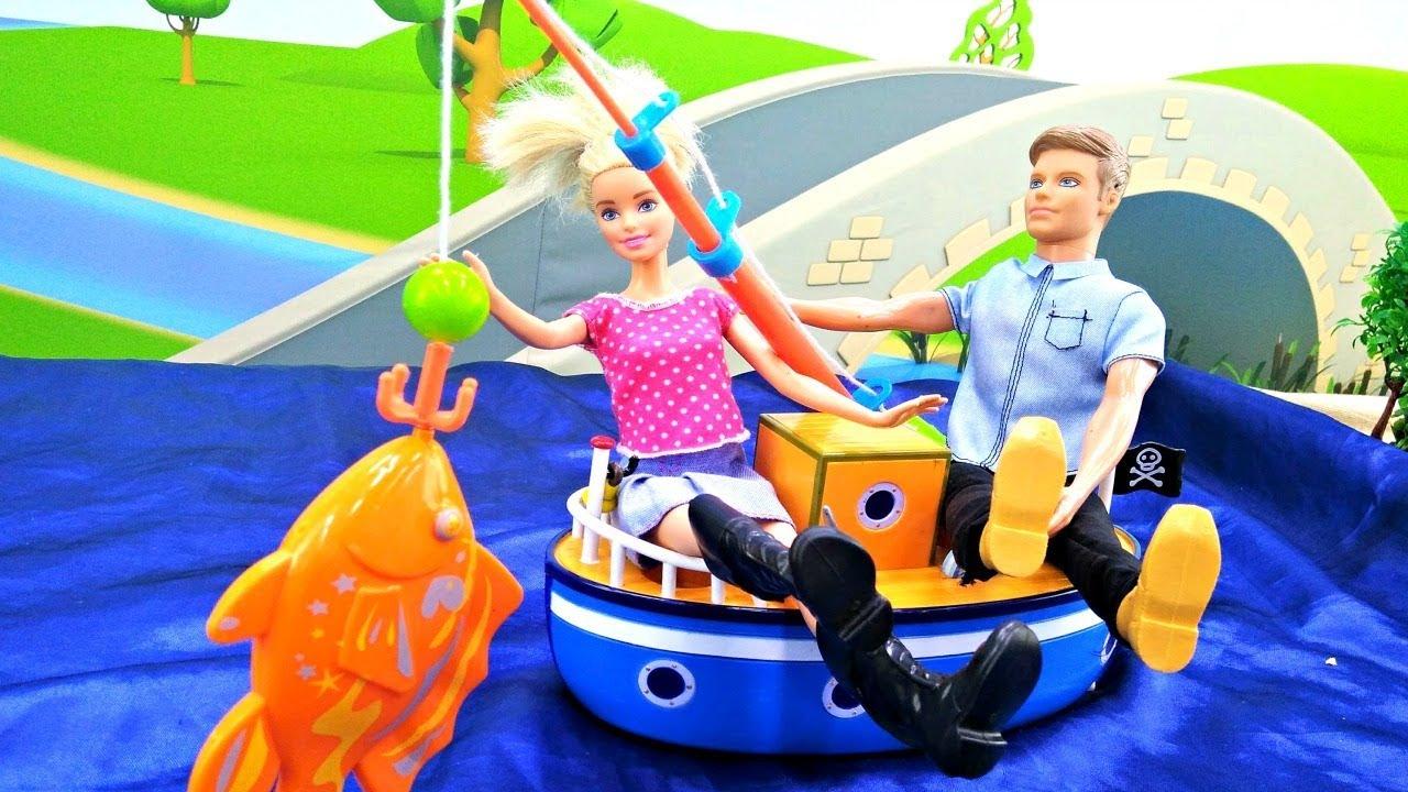 Барби и Кен на рыбалке. Видео для девочек. Мультфильмы ...