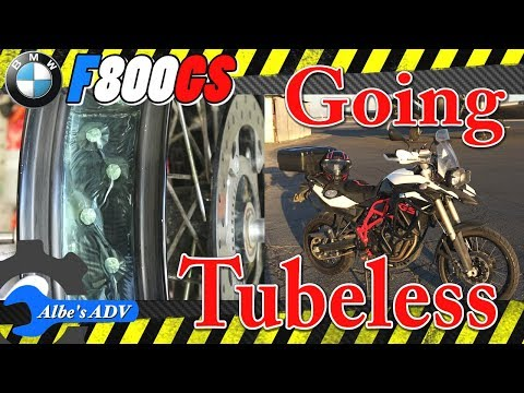 The BMW F800GS is going tubeless with an OutEx tubeless spoked wheels kit