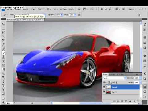 Como pintar un auto con photo shop cs4 youtube - Programa para pintar ...
