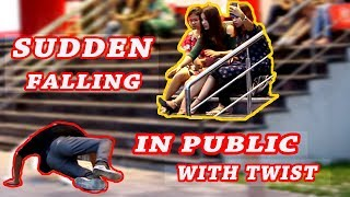 PUSH UP PRANK | SUDDEN FALLING IN FRONT OF PUBLIC |