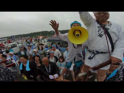 令和元年    茅ケ崎 浜降祭 寒川地区(6社)堤八坂(甚句)本社神輿半端無いパフォーマンスです (生)。
