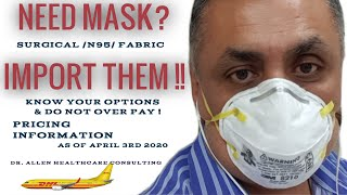Need Masks? Import them rather than Sew them. | Things to know and pricing information