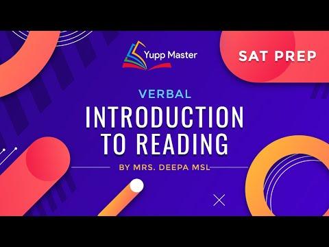 SAT Introduction To Reading   Verbal   turito   SAT Prep  Turito SAT Prep