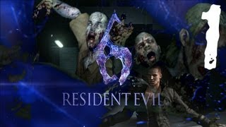Resident Evil 6 - Leon Demo Gameplay Part 1 - ZOMBIE-BAMA!!!