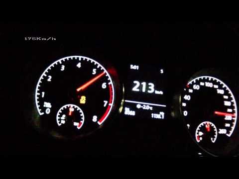 VW Golf VII 1,4 TSI 140 PS acceleration 0 210 km h Vmax test