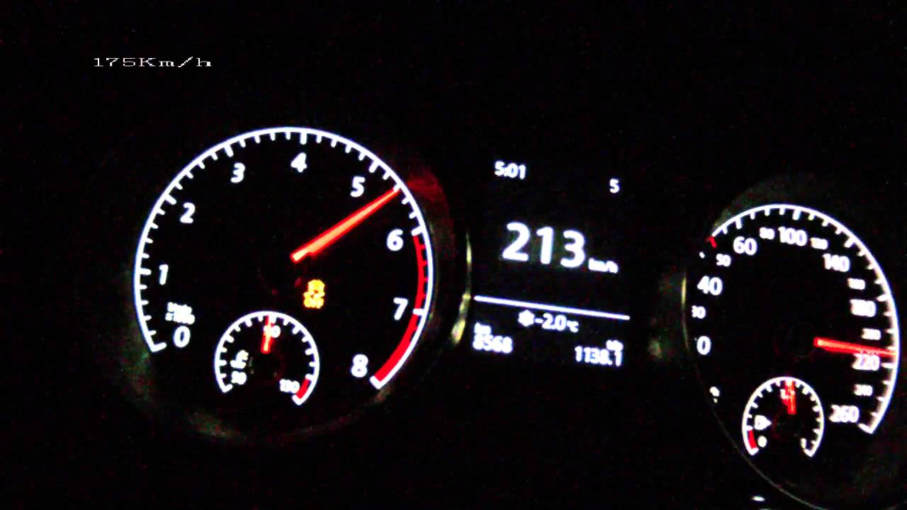Vw Golf Vii 1 4 Tsi 140 Ps Acceleration 0 210 Km H Vmax Test You