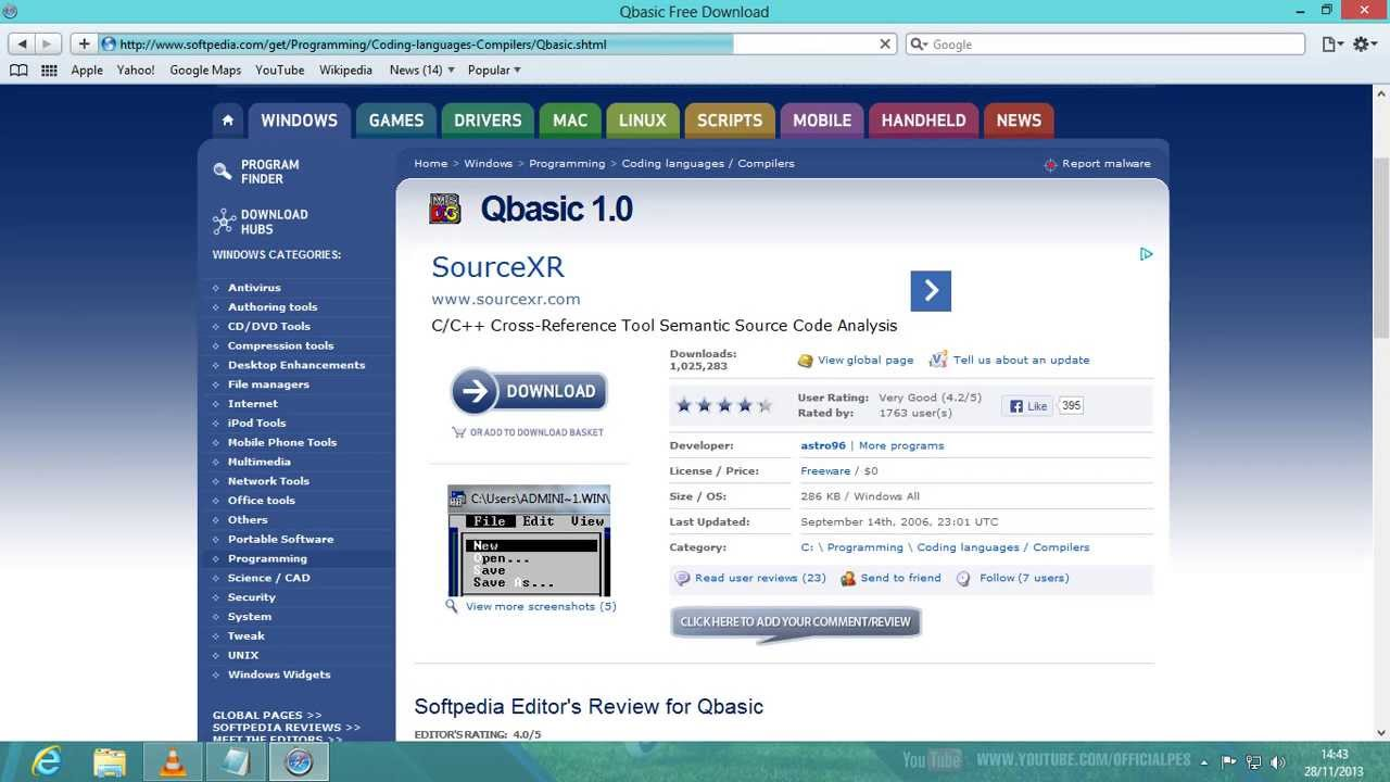 How to download qbasic for windows 7 32 bit. Youtube.