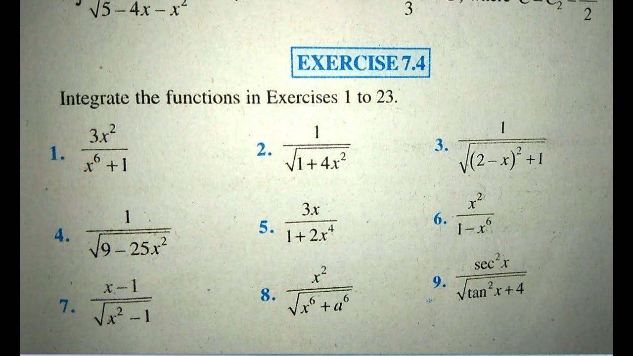 12 th (NCERT) Mathematics-INTEGRATION (CALCULUS) | EXERCISE-7 4  (Solution)|Pathshala ( hindi )